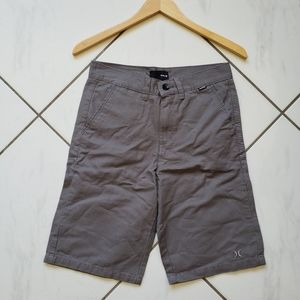 Hurley 💙 Gray Flat Front Shorts Chino Cotton